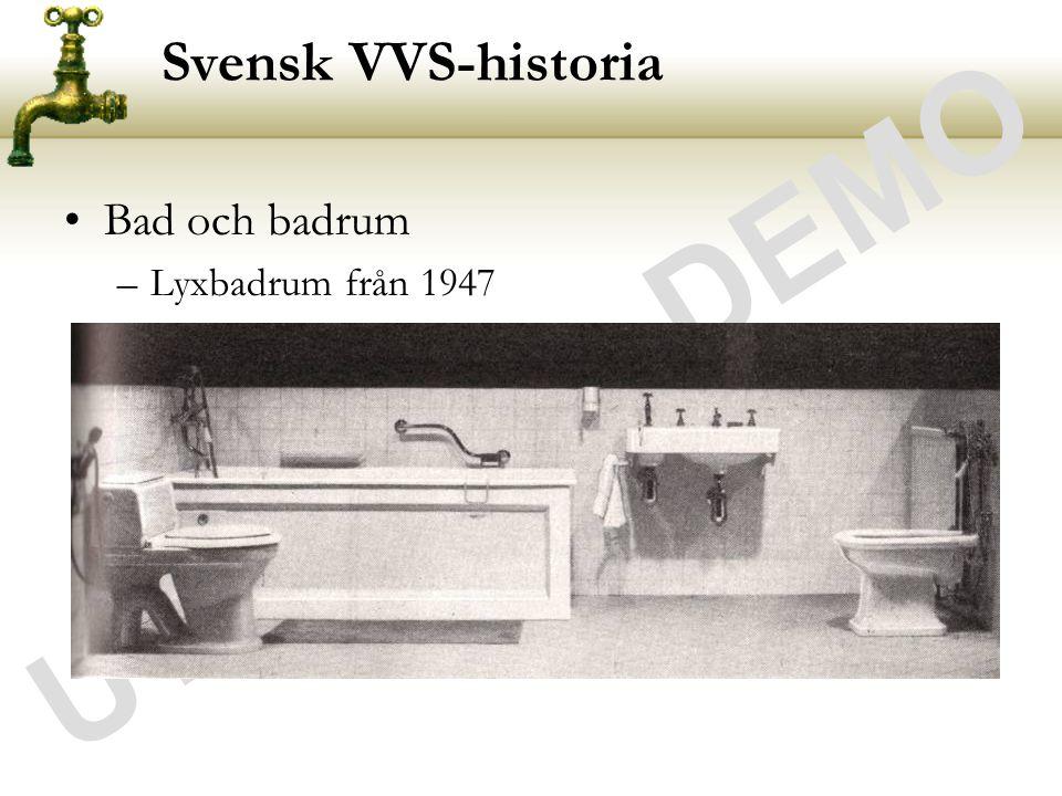 UTDRAG - DEMO Svensk VVS-historia Bad och badrum Lyxbadrum från 1947