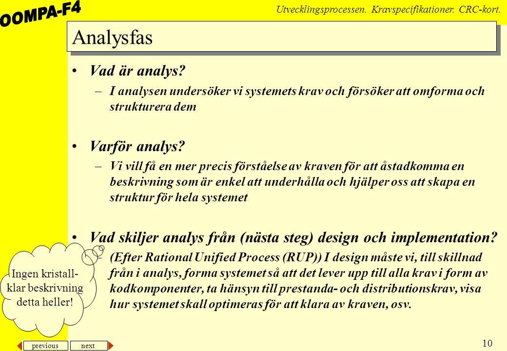 Analysfas Vad är analys Varför analys