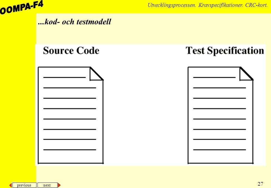 ...kod- och testmodell