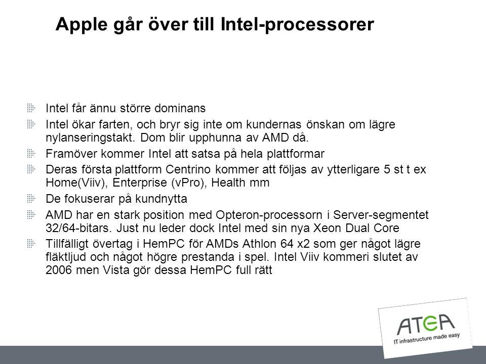 Apple går över till Intel-processorer