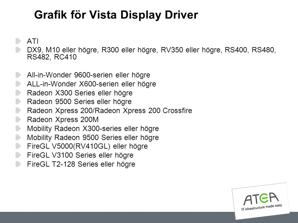 Grafik för Vista Display Driver