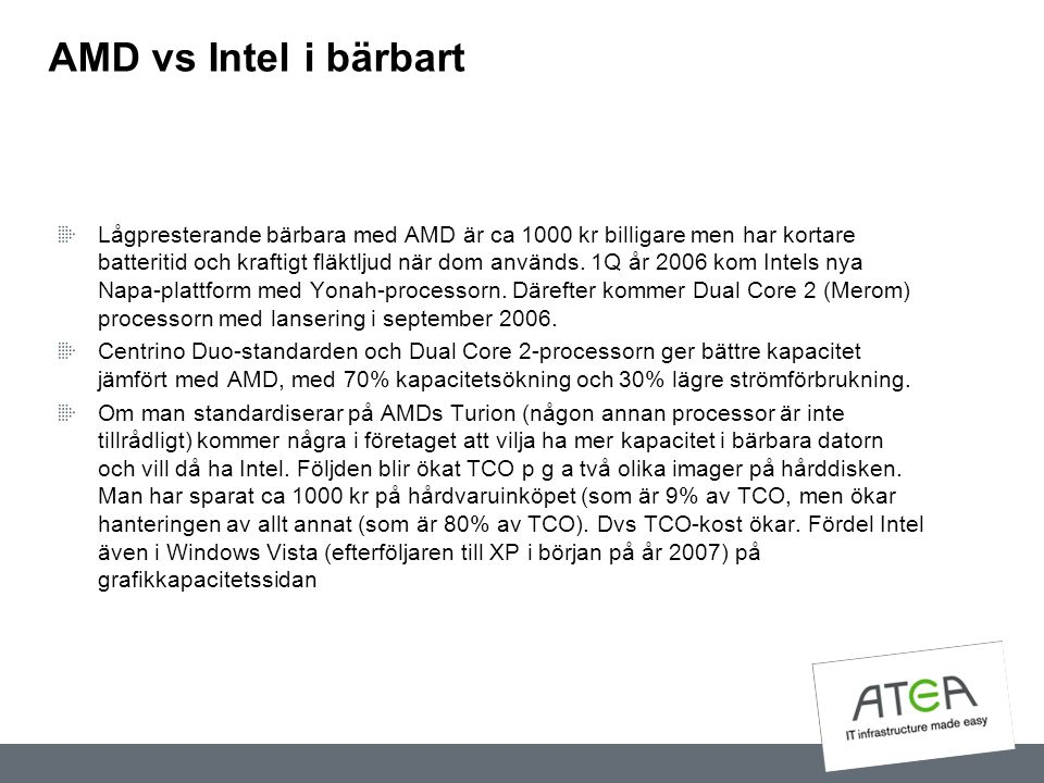 AMD vs Intel i bärbart