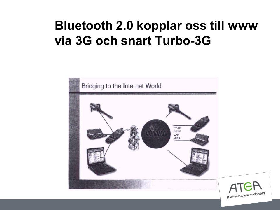 Bluetooth 2.0 kopplar oss till www via 3G och snart Turbo-3G