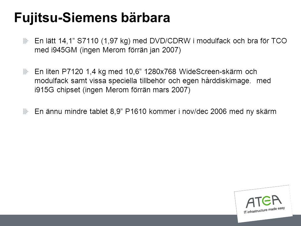 Fujitsu-Siemens bärbara