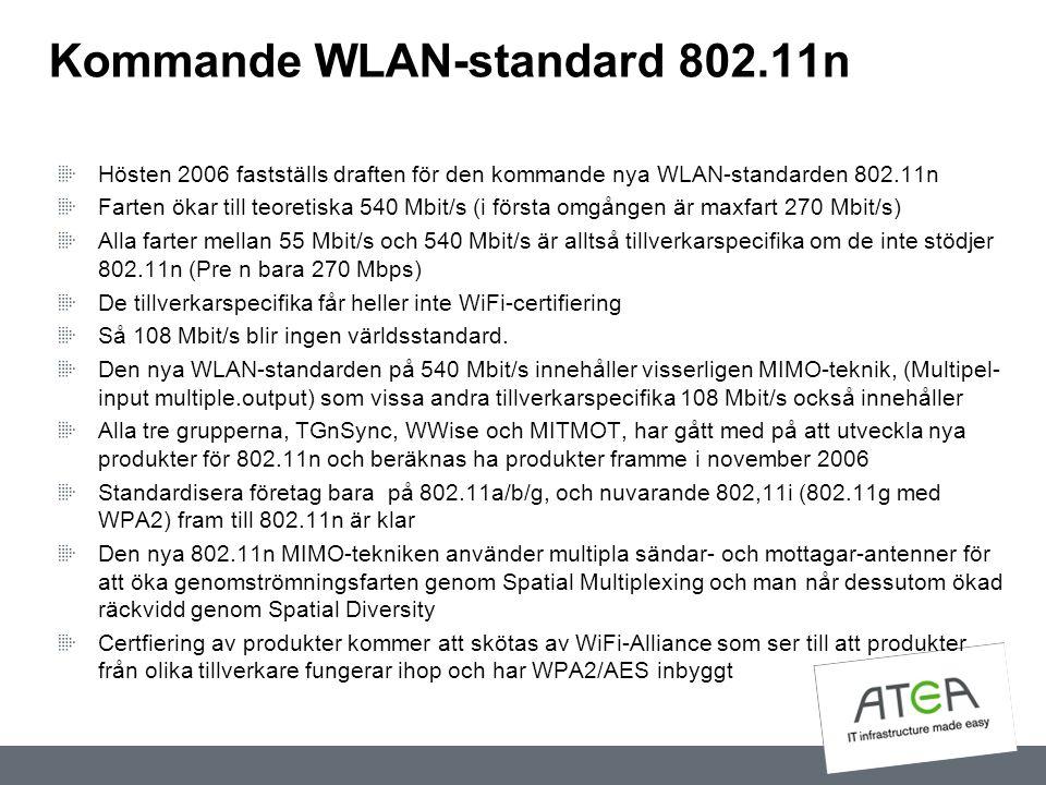 Kommande WLAN-standard 802.11n