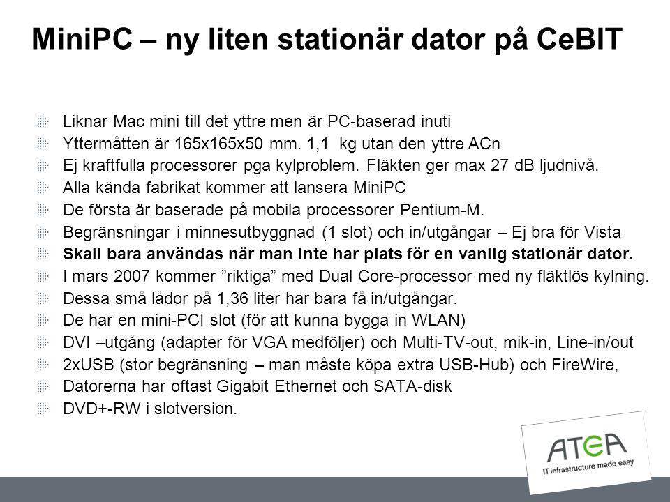 MiniPC – ny liten stationär dator på CeBIT