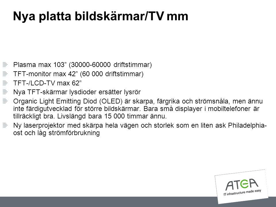 Nya platta bildskärmar/TV mm