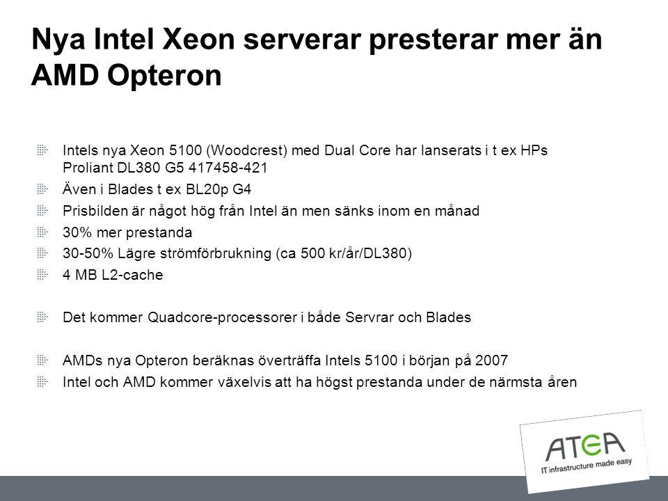 Nya Intel Xeon serverar presterar mer än AMD Opteron