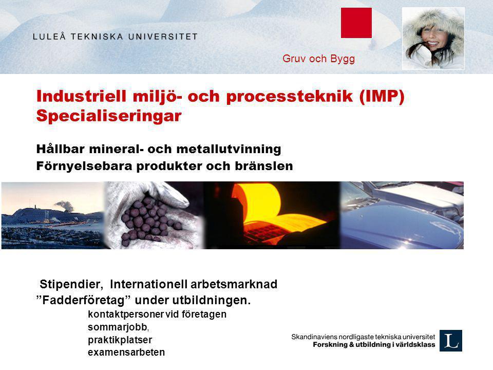 Industriell miljö- och processteknik (IMP) Specialiseringar