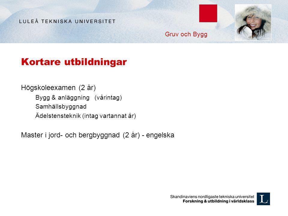Kortare utbildningar Högskoleexamen (2 år)