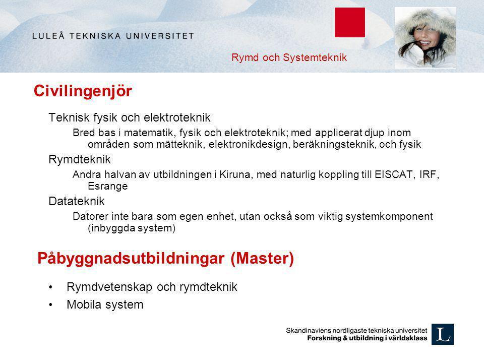 Påbyggnadsutbildningar (Master)