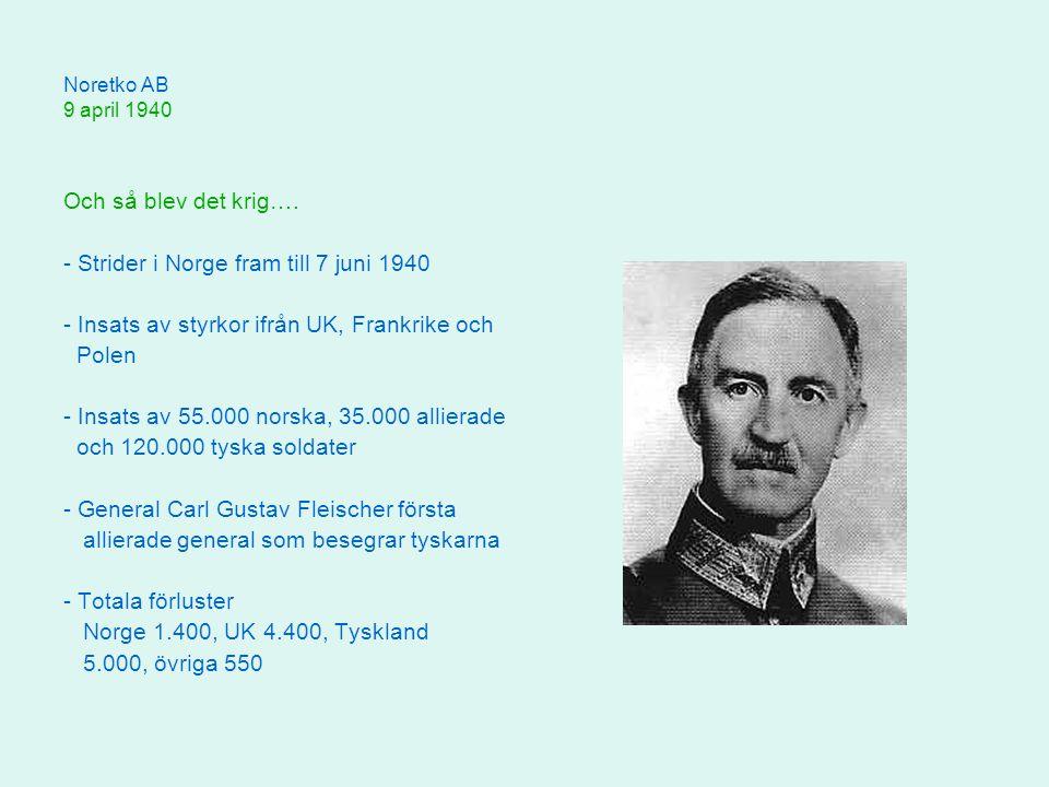 - Strider i Norge fram till 7 juni 1940