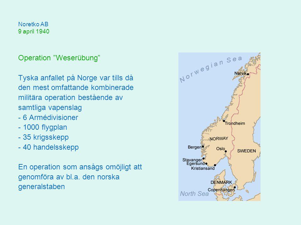 Operation Weserübung Tyska anfallet på Norge var tills då