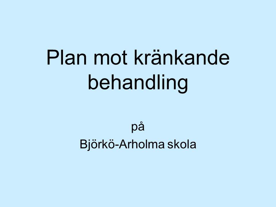 Plan mot kränkande behandling