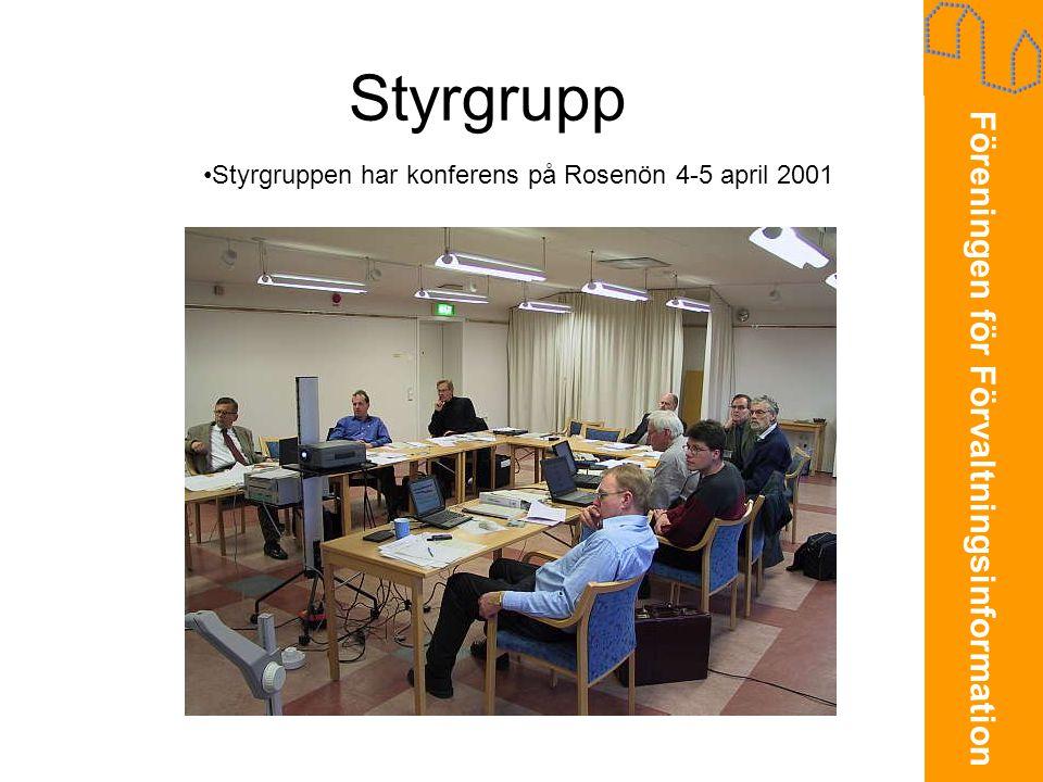 Styrgrupp Styrgruppen har konferens på Rosenön 4-5 april 2001