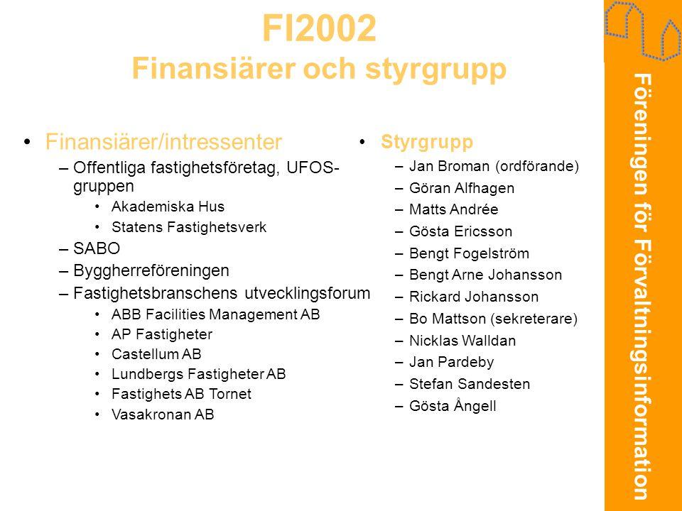 FI2002 Finansiärer och styrgrupp
