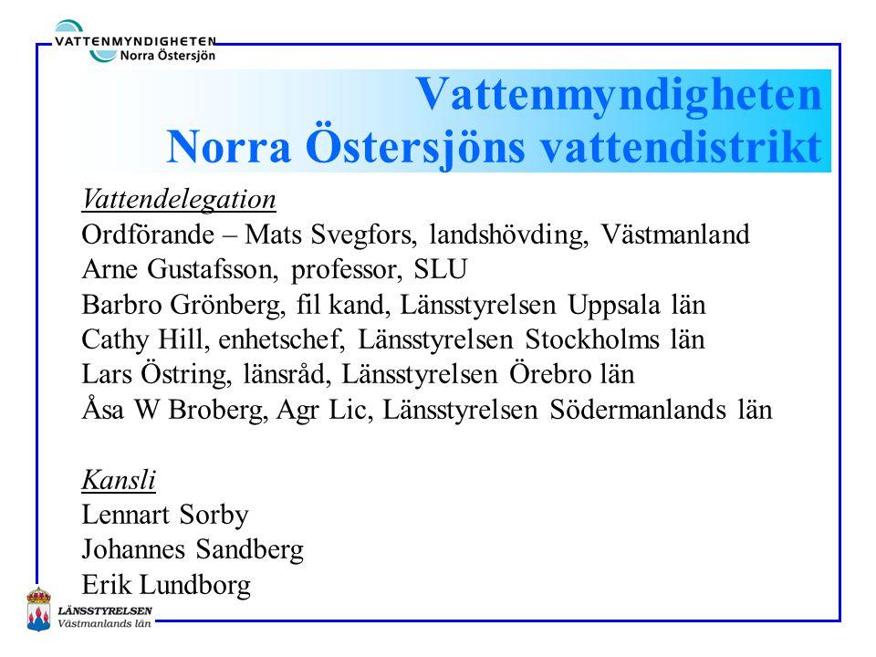 Vattenmyndigheten Norra Östersjöns vattendistrikt