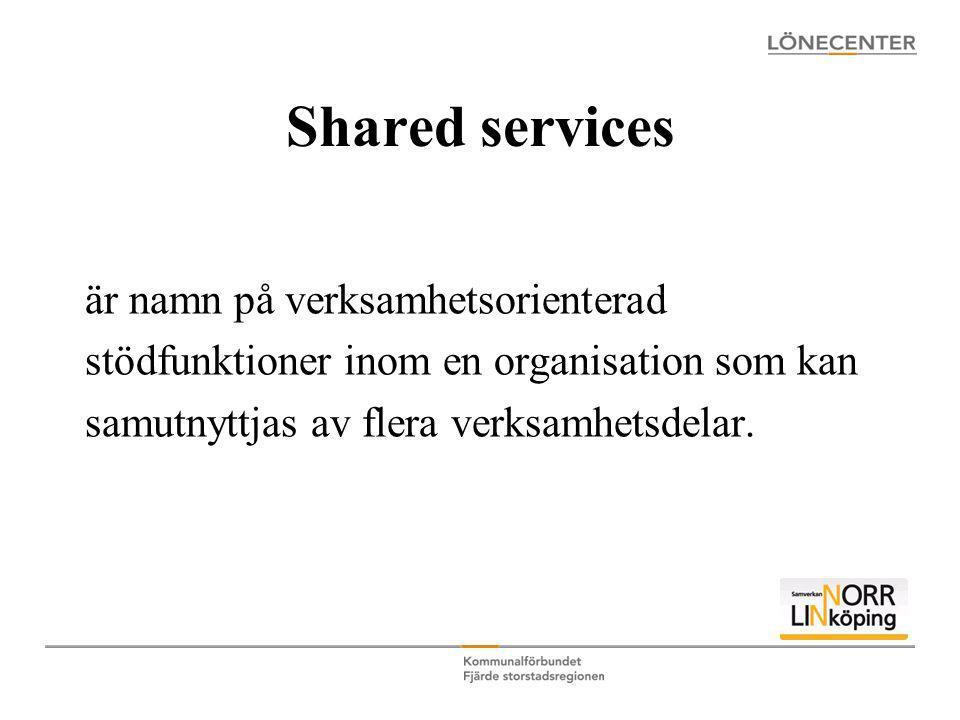 Shared services är namn på verksamhetsorienterad