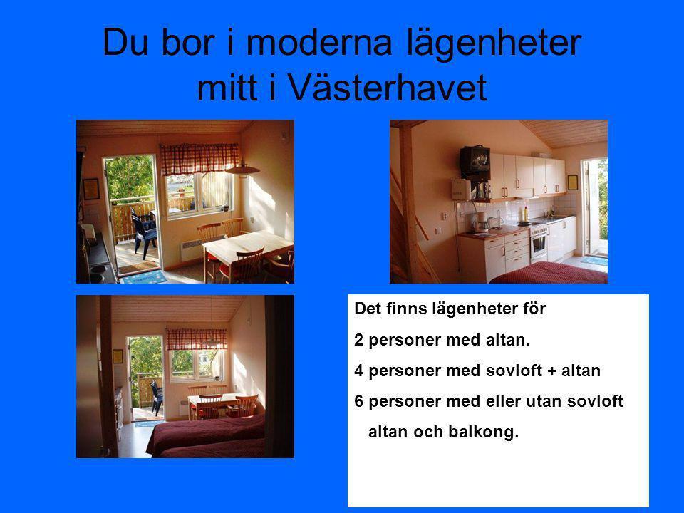 Du bor i moderna lägenheter mitt i Västerhavet