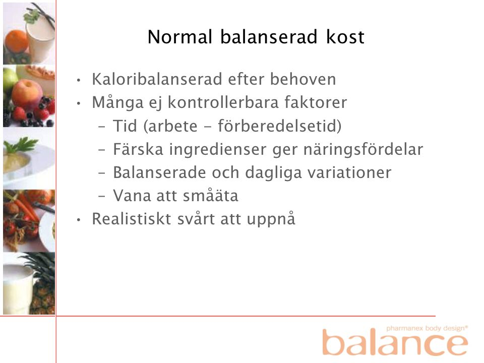 Normal balanserad kost