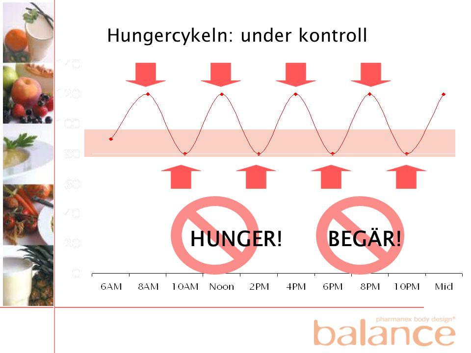HUNGER! BEGÄR! Hungercykeln: under kontroll