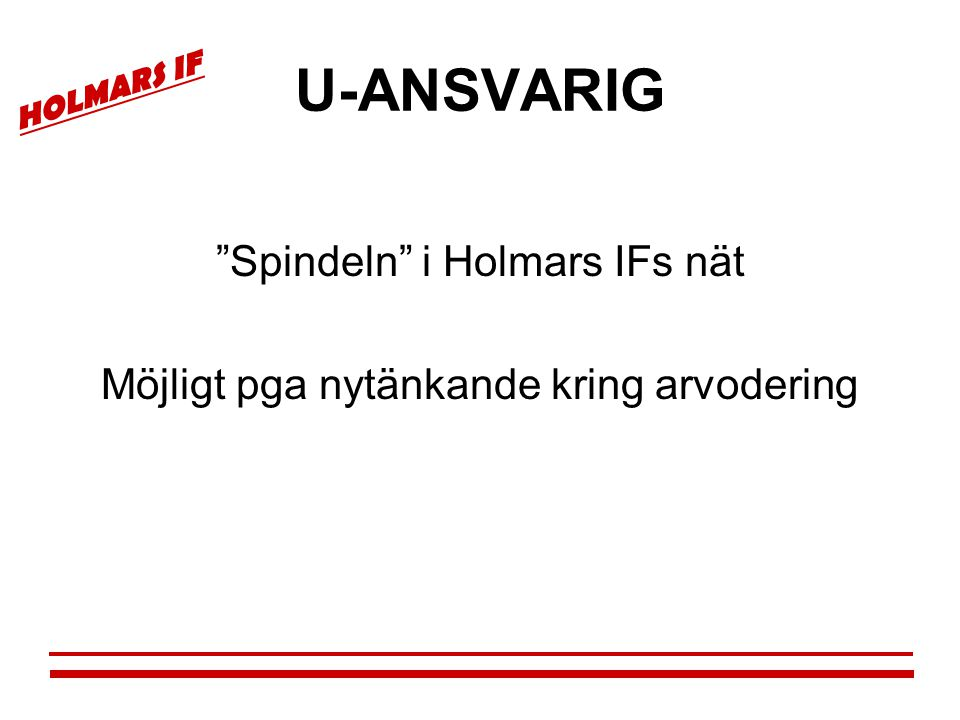 U-ANSVARIG Spindeln i Holmars IFs nät