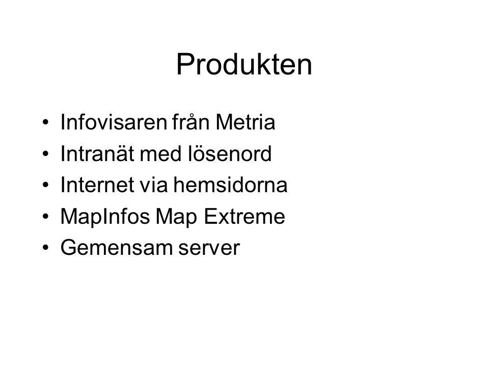 Produkten Infovisaren från Metria Intranät med lösenord