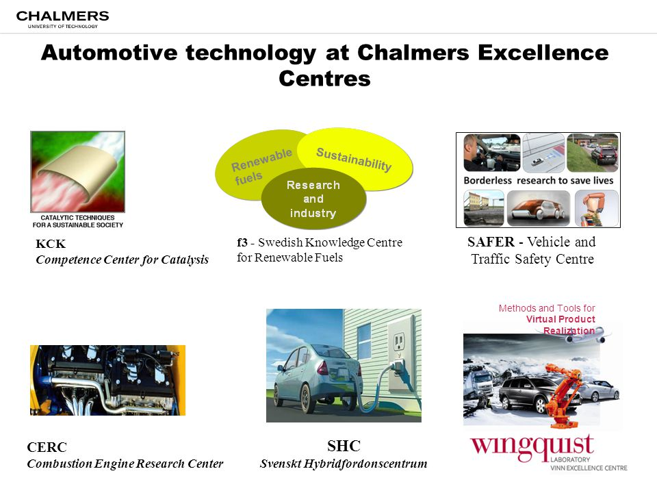 Automotive technology at Chalmers Excellence Centres
