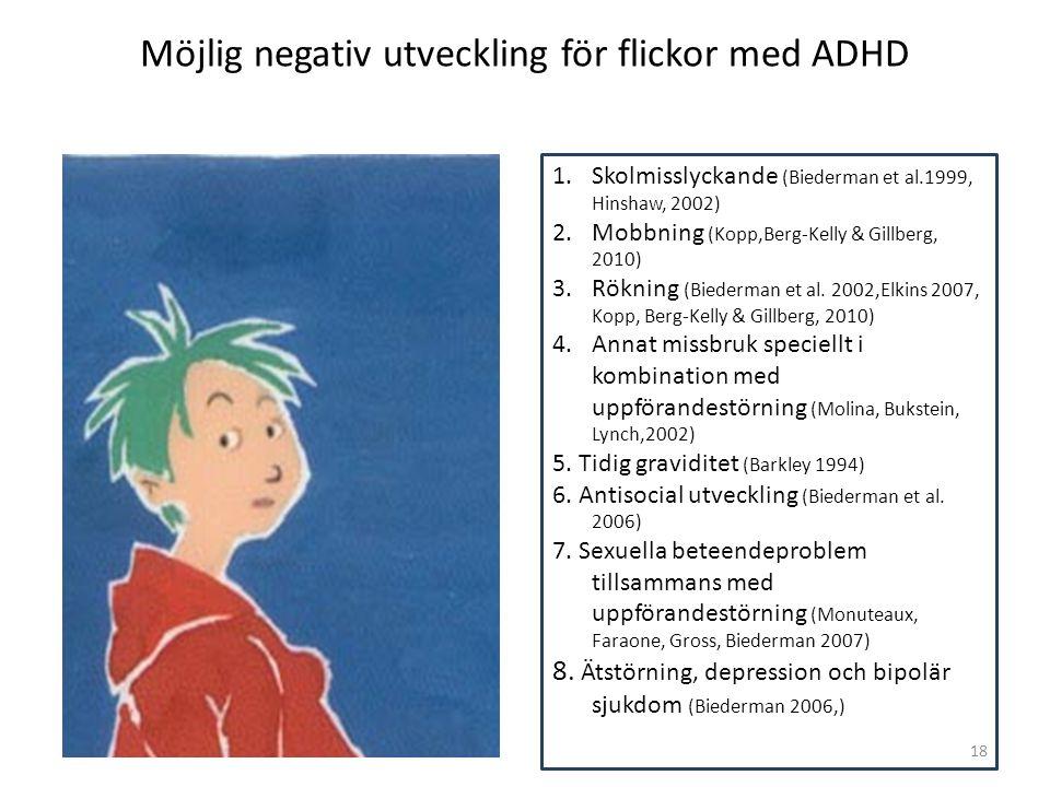 Möjlig negativ utveckling för flickor med ADHD