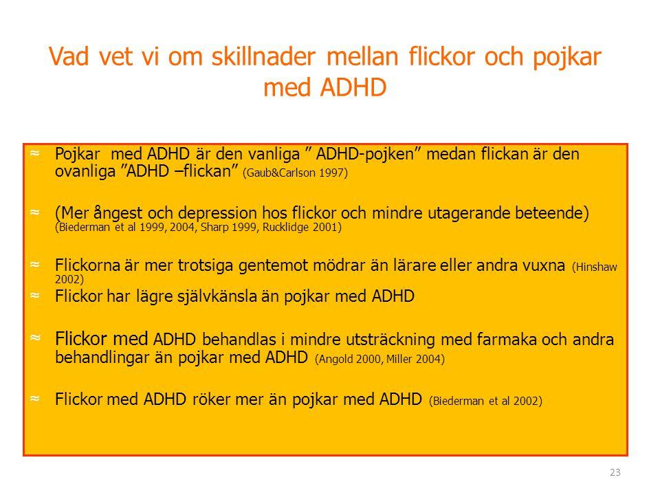 Vad vet vi om skillnader mellan flickor och pojkar med ADHD