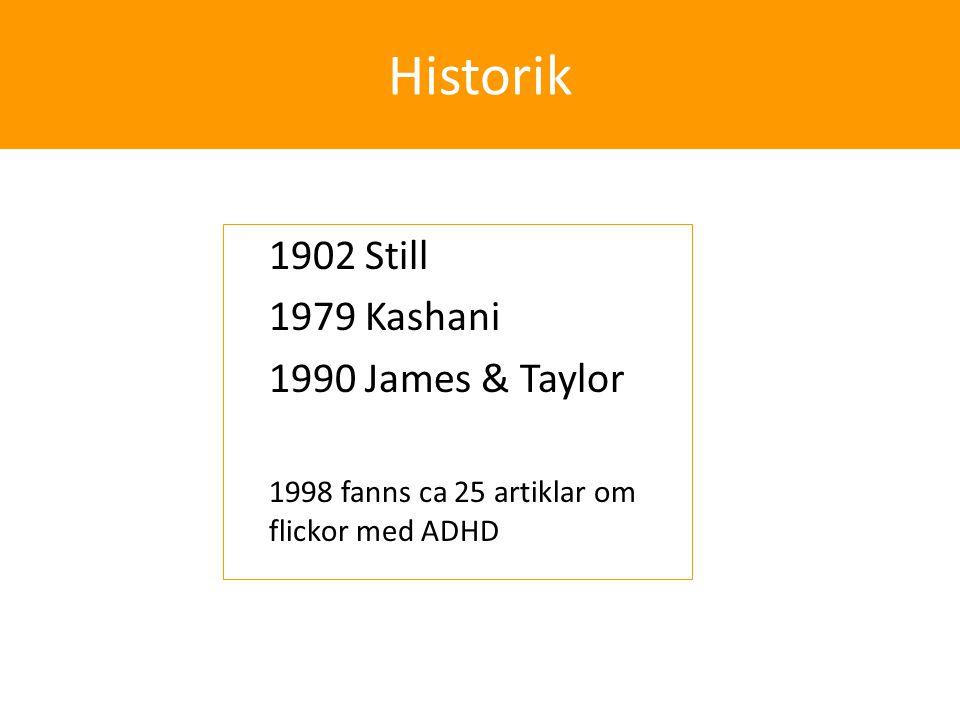 Historik 1902 Still 1979 Kashani 1990 James & Taylor