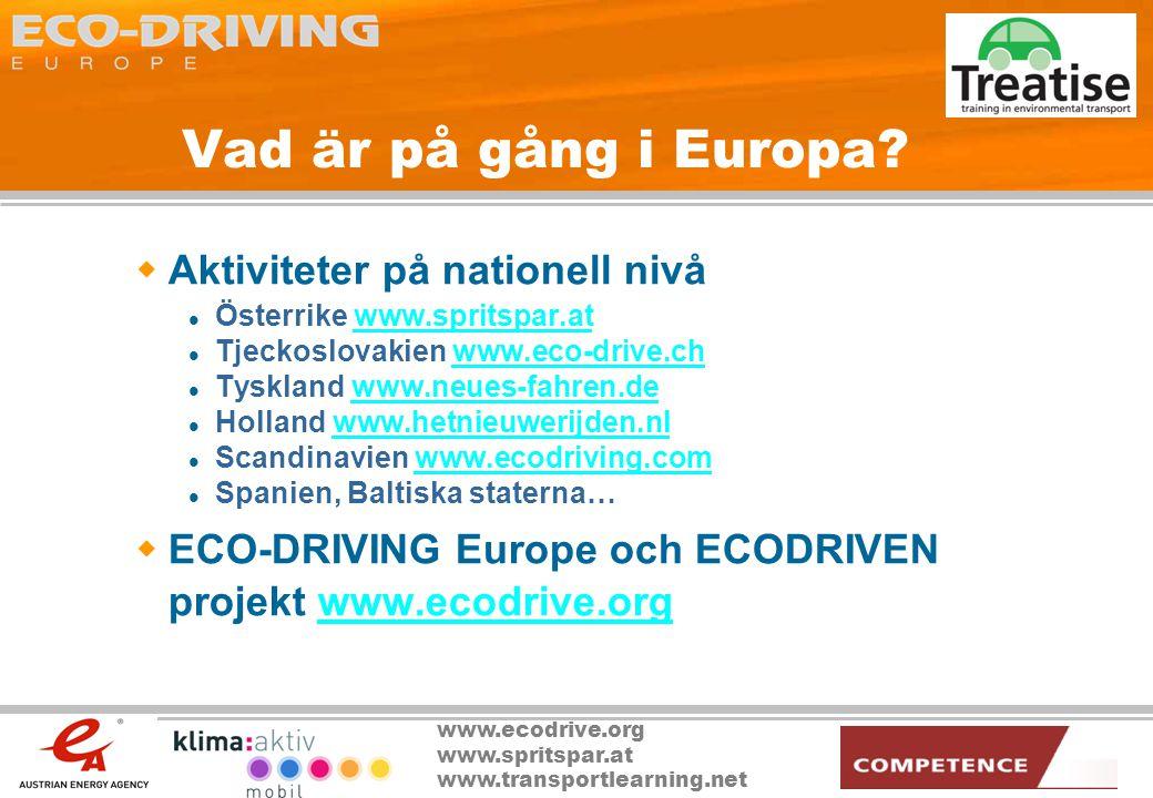 Vad är på gång i Europa Aktiviteter på nationell nivå