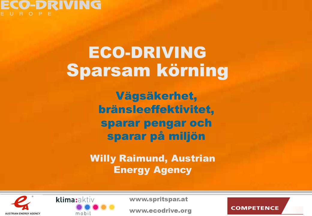 ECO-DRIVING Sparsam körning