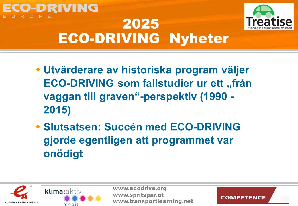 2025 ECO-DRIVING Nyheter