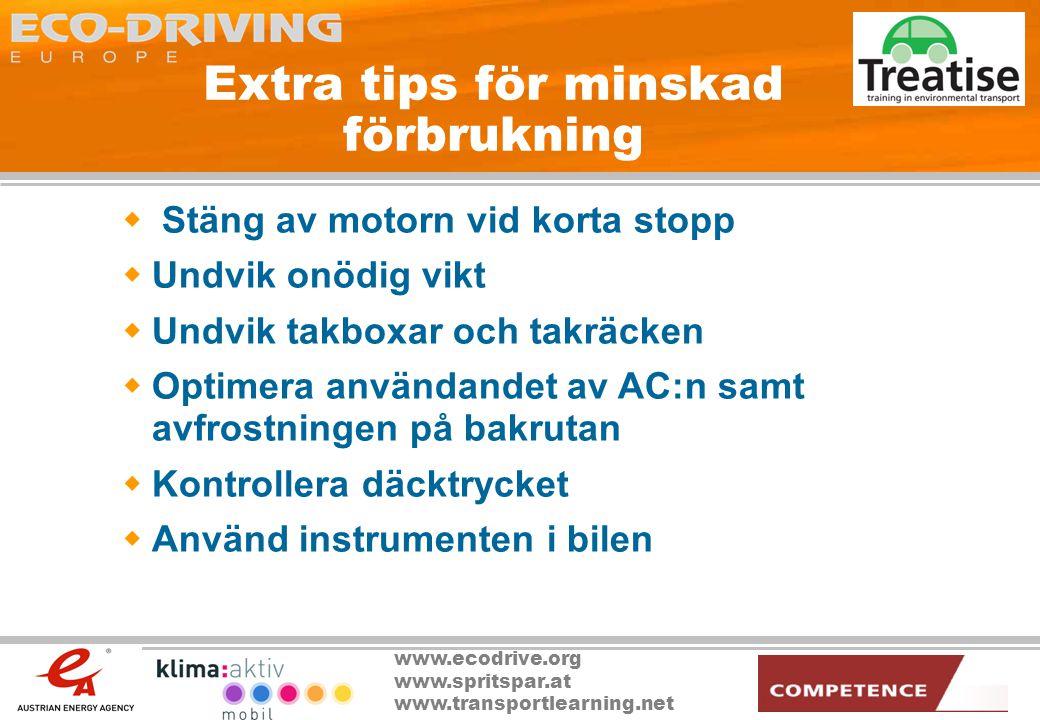 Extra tips för minskad förbrukning