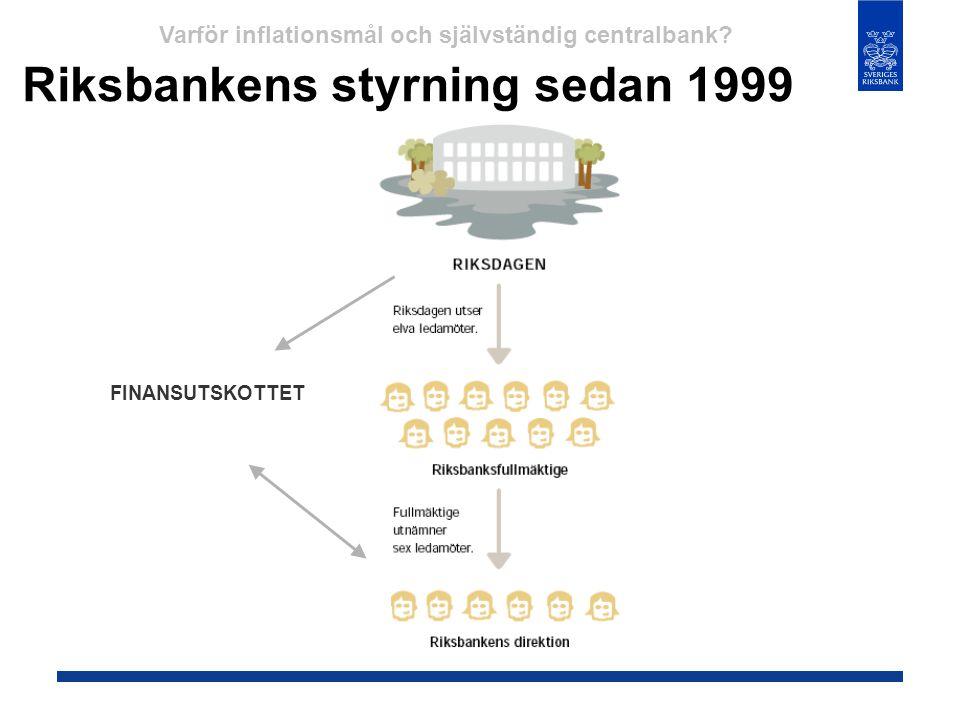 Riksbankens styrning sedan 1999