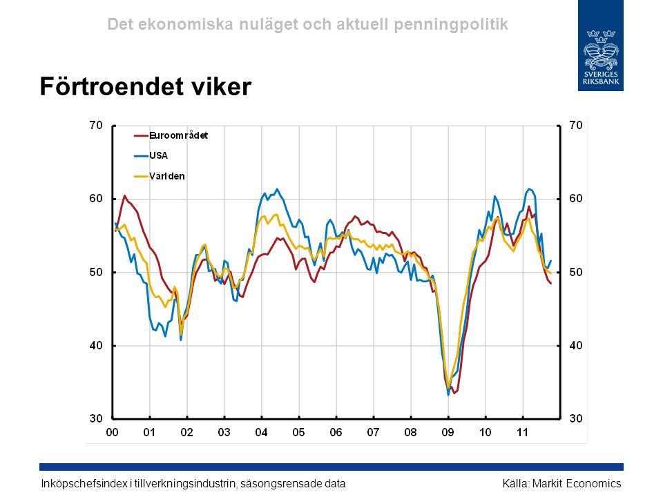 Det ekonomiska nuläget och aktuell penningpolitik