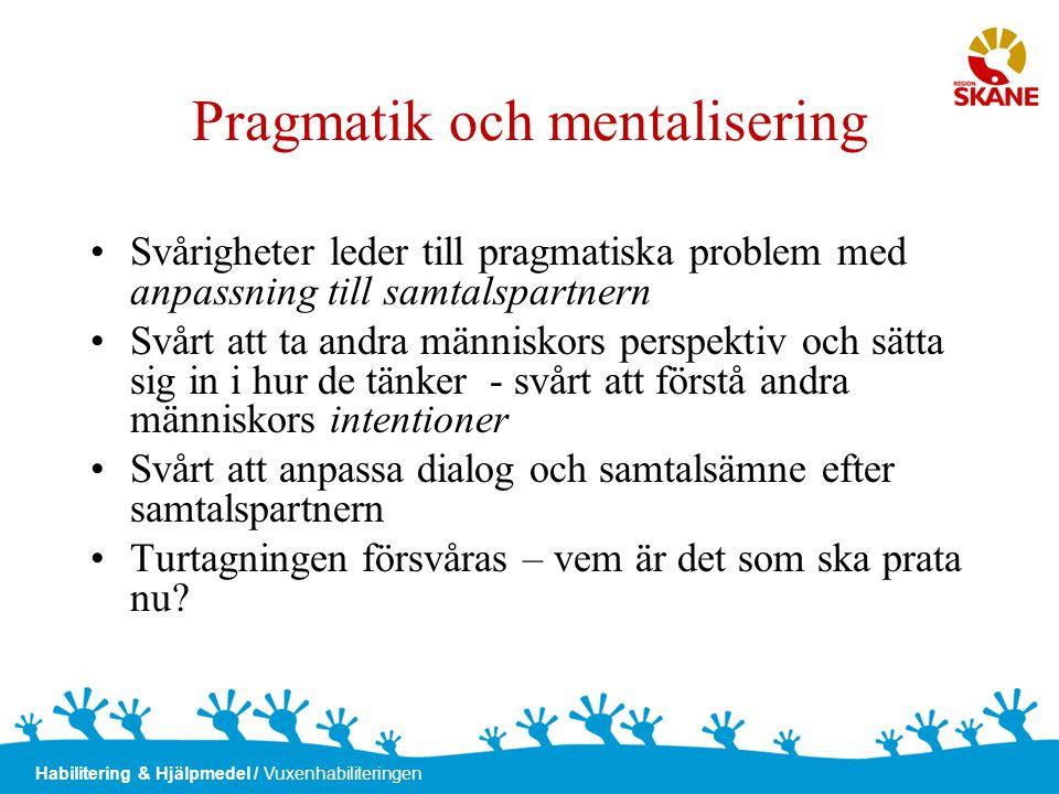 Pragmatik och mentalisering