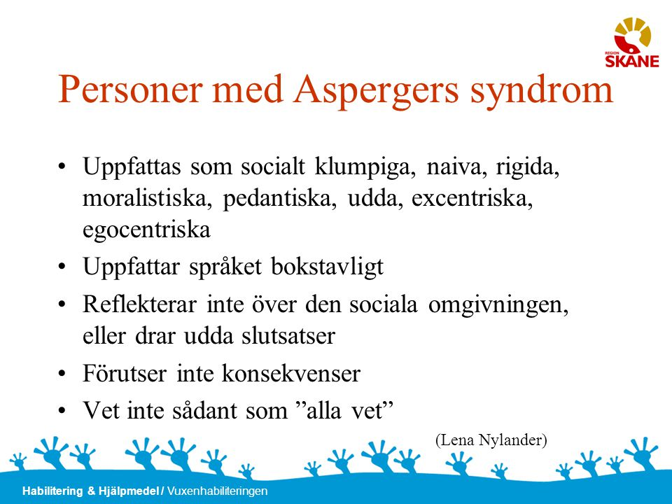 Personer med Aspergers syndrom