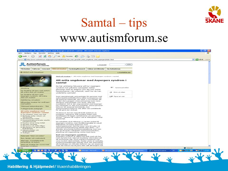 Samtal – tips www.autismforum.se