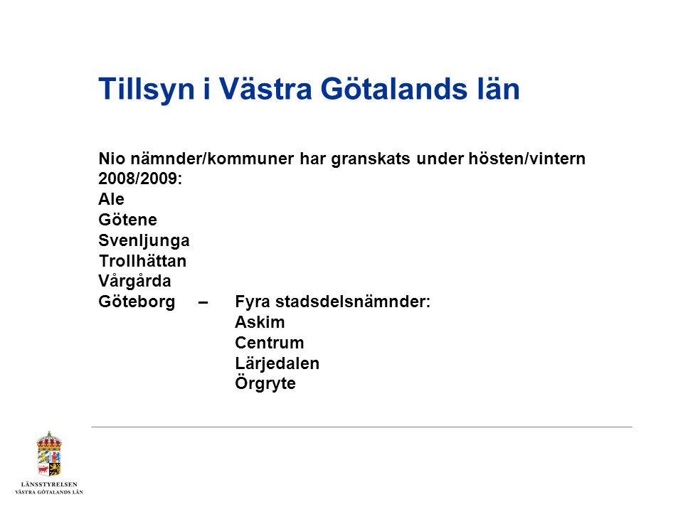 Tillsyn i Västra Götalands län