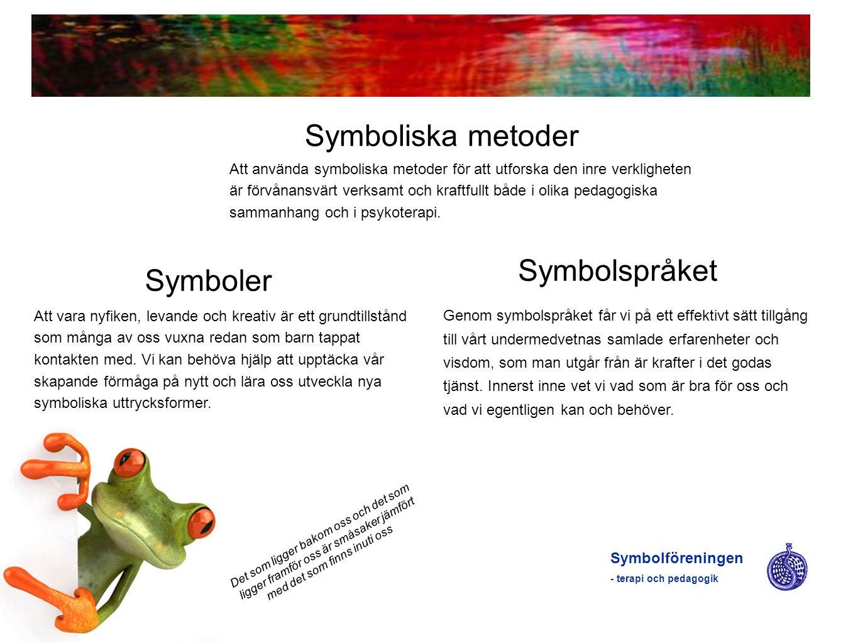 Symboliska metoder Symbolspråket Symboler
