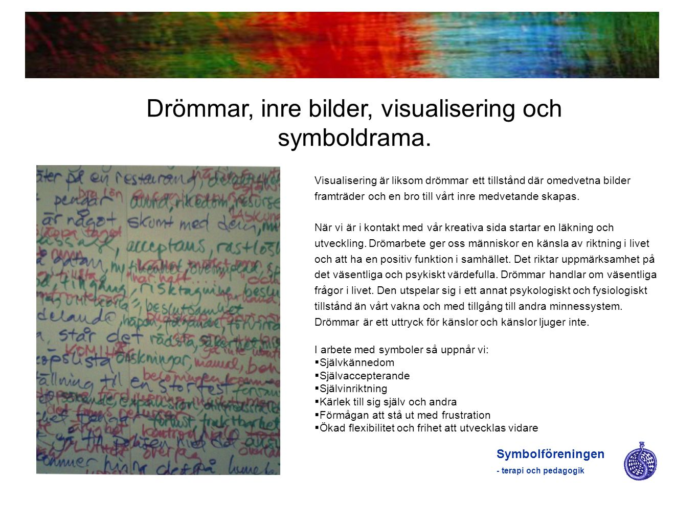 Drömmar, inre bilder, visualisering och symboldrama.