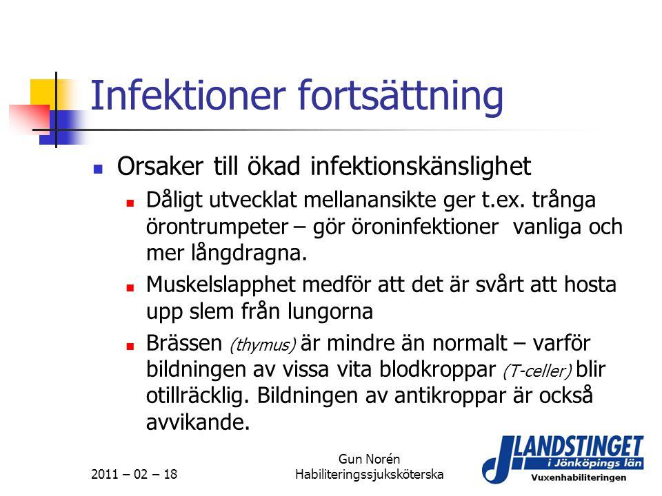 Infektioner fortsättning