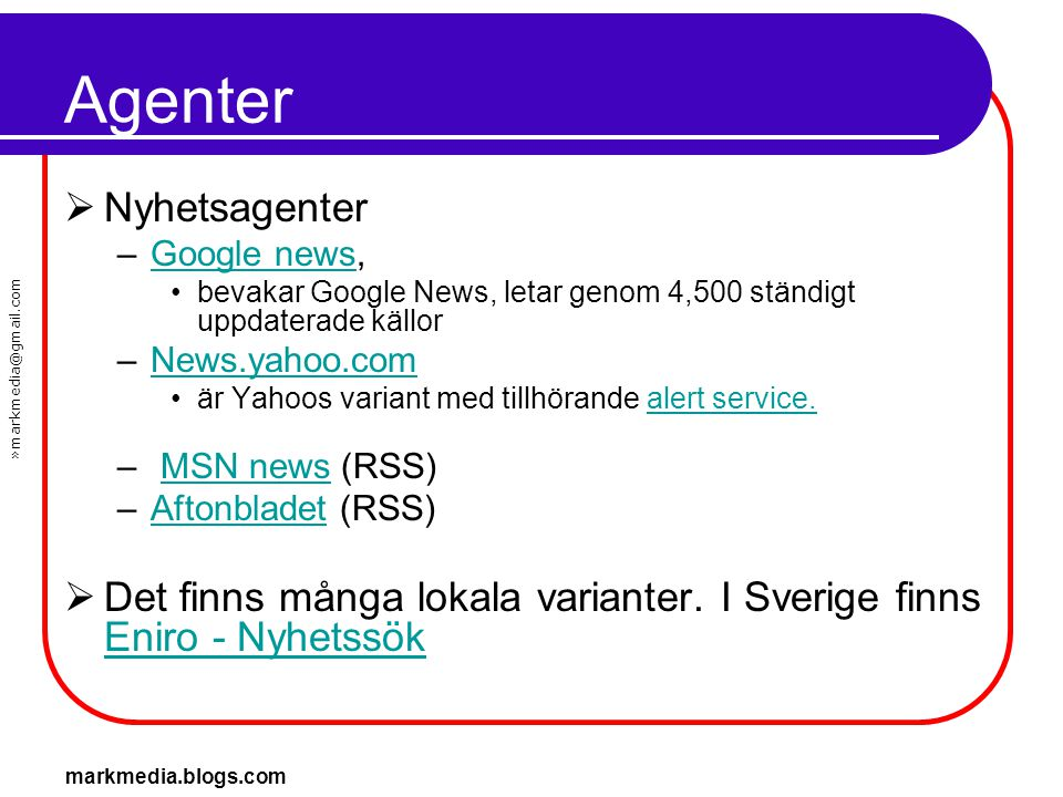 Agenter Nyhetsagenter