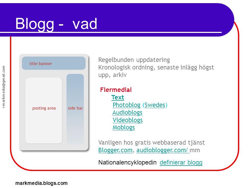 Blogg - vad Regelbunden uppdatering