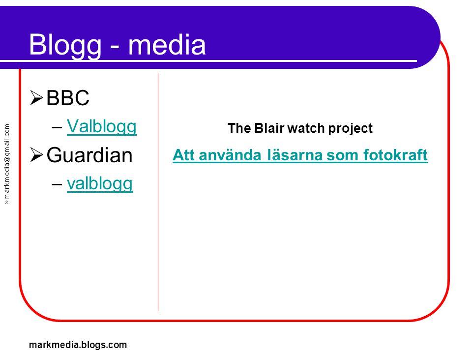 The Blair watch project Att använda läsarna som fotokraft