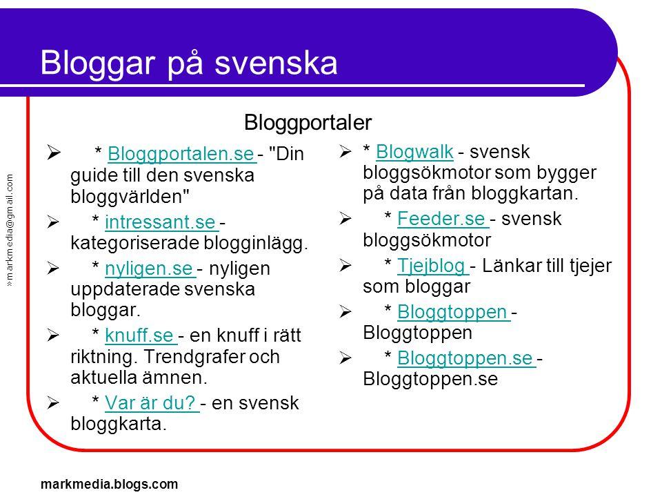 Bloggar på svenska Bloggportaler