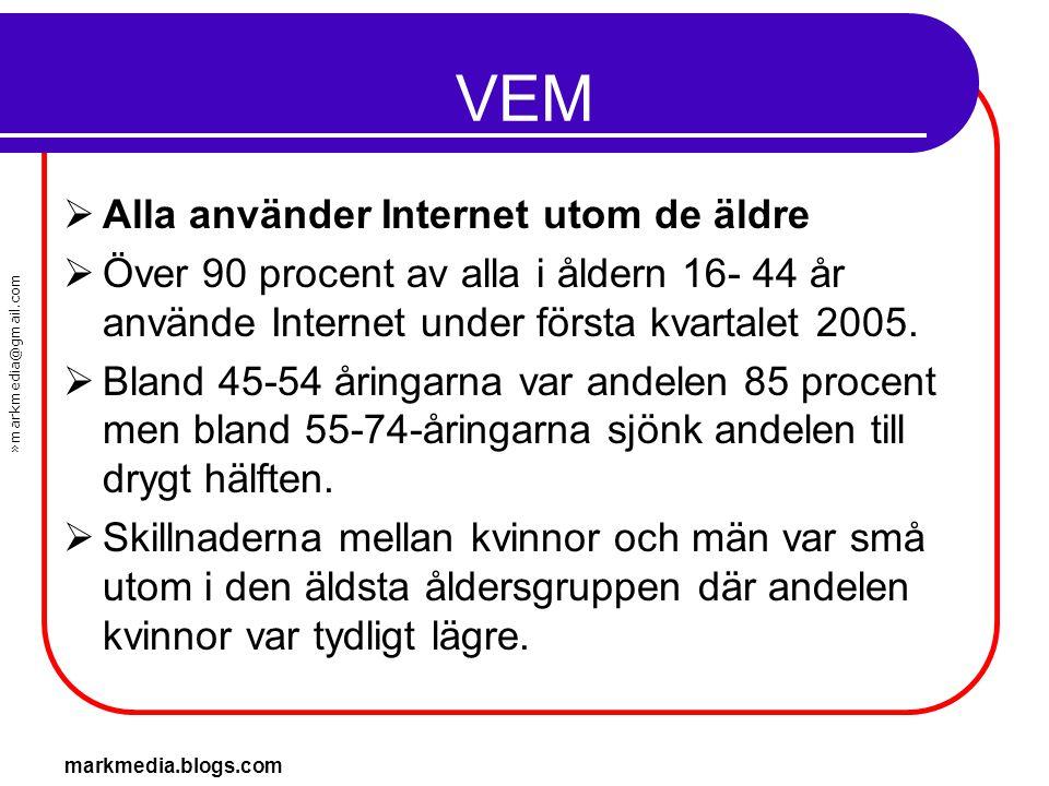 VEM Alla använder Internet utom de äldre