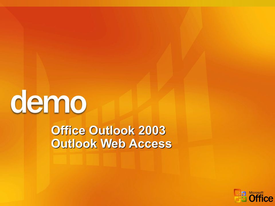 Office Outlook 2003 Outlook Web Access
